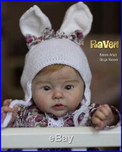 Reborn Baby Doll Raven by Ping Lau By Russian Prototype Artist High Quality