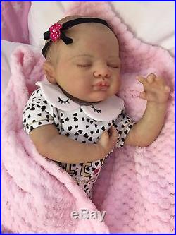Reborn Baby Doll Real Girl Chloe Realistic 22 Newborn Lifelike Uk 5lbs Hair
