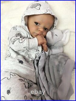 Reborn Baby Doll / Realborn Christopher Awake/ COA/Caucasian