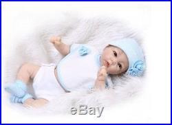 Reborn Baby Doll Realistic Vinyl Silicone Newborn Life Like 21 Baby Boy Blue