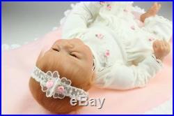 Reborn Baby Doll Soft Silicone vinyl 18 inch Cute Full Handmade Lifelike
