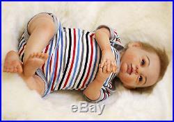 Reborn Baby Doll soft vinyl Newborn Boy Girl Realistic Handmade Lifelike 20-22