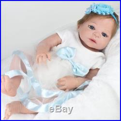Reborn Baby Dolls 22 Lifelike Newborn Babies Full Vinyl Silicone Baby Girl Doll