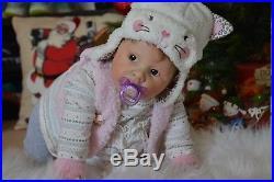 Reborn Baby Dolls Realistic Newborn Vinyl Girl Baby Doll 24 Liliana