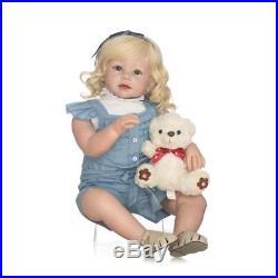 Reborn Baby Dolls Toddler Newborn Girl Blonde Hair Lifelike kids Wear Model 28