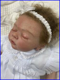 Reborn Baby Girl Amiah 20 Authentic Vinyl Doll by Melody Hess
