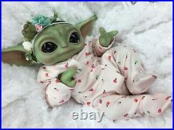 Reborn Baby Girl Art Doll Baby Yoda Mandalorian Authentic Reborn Uk