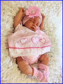 FEELS REAL TO HOLD PINK SPOT DRESS S REBORN BABY GIRL DOLL FLOPPY