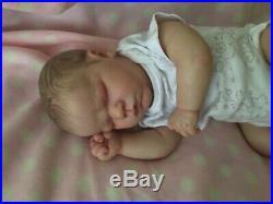 Reborn Baby Girl Doll Lavender Asleep Bountiful Baby Realborn