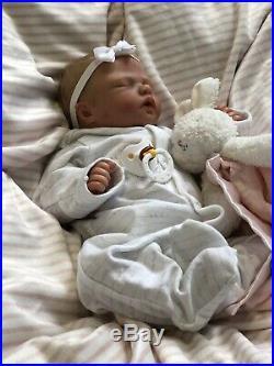 Reborn Baby Girl Trouble Nikki Johnston, COA, Realistic Newborn Therapy Doll
