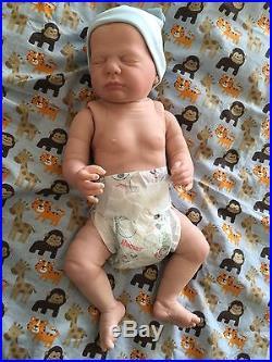 Reborn Baby Harper Doll Full Vinyl Torso Anatomically Correct Boy Bald Completed
