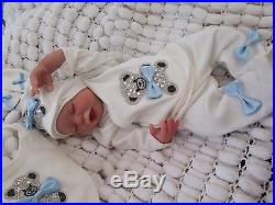 Reborn Baby Realistic Doll & Belly Plate By Sunbeambabies, Puddin Bountiful Baby