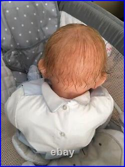 Reborn Baby Toddler Doll Waki Puppen 7lb 23in Rooted Hair HTF OOAK Sweet