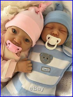 Reborn Baby Twins My Fake Babies Realistic 22 Big Newborn 2 Dolls Benji & Emma