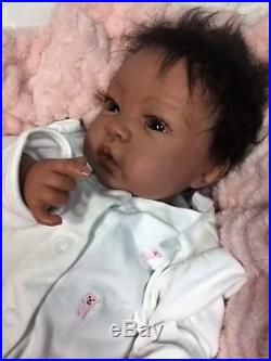 Reborn Biracial Sheliah-Baby Doll Therapy for Kids, Memory Loss, Special Needs