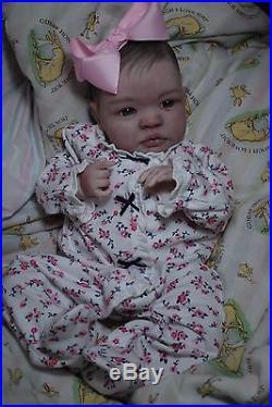 Reborn CUSTOM MADE SHYANN ooak fake baby lifelike vinyl art ARTIST doll PETERSON