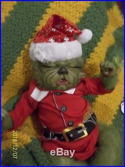 Reborn Christmas Green Yeti Monster Hybrid Grinch Artist Baby Doll Fantasy