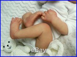 Reborn Collectable Baby doll art Newborn Art Levi (Brown) Boy or Girl