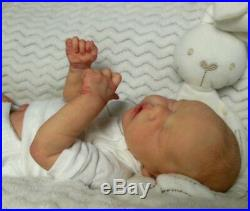 Reborn Collectable Baby doll art Newborn Artborn Twin A Brown Open Mouth