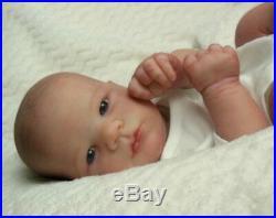 Reborn Collectable Baby doll art Newborn Xander (Lavender) awake Blue eyes