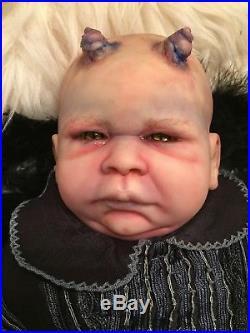 Reborn Demon Baby Doll Horror 22 OOAK ART Tomas