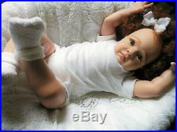 Reborn Doll 24 handmade, rooted hair, Genesis painted ready to go Home