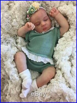 Reborn Doll Baby Girl Painted Hair Stunning Realborn Alexa Uk Seller