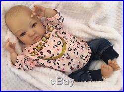 Reborn Doll Baby Girl Shyann Realistic 20 Real Lifelike Childs Eyes Hair Uk