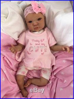 Reborn Doll Baby Girl Shyann Realistic 20 Real Lifelike Childs Eyes Hair Veins