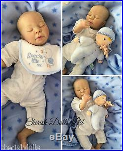Reborn Doll Prem Sleeping Baby Boy Cherish Dolls Veins Hair Realistic Childrens