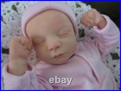 Reborn Doll Realborn Callie Asleep, 17.5, 3 Lbs. 4 Oz. COA