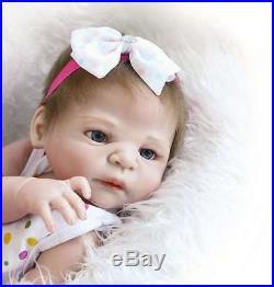 Reborn Full Body Silicone Baby Girl Doll Sanydoll Soft