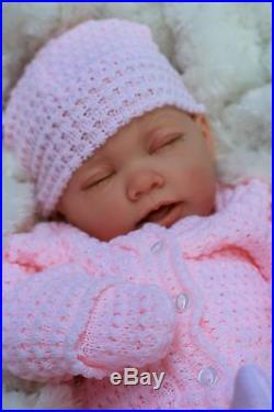 Reborn Girl Doll Pink Knitted Spanish Outfit E112 Butterfly Babies