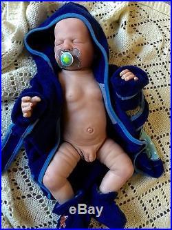 Reborn Harper Doll Full Vinyl Torso Anatomically Correct Boy Bald Completed OOAK