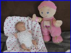 Reborn Mini Doll Mia by Shawna Clymer, 8.5 10 Oz. COA