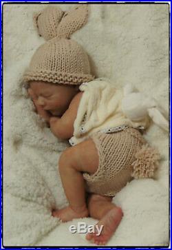Reborn OOAK Baby doll art Newborn Brookyn Lifelike Realistic Realborn