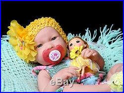 Reborn Realistic Girl Doll Baby Preemie Washable Real Soft Vinyl LifeLike 17