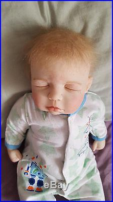 Reborn Tabatha Sculpt by Pat Moulton, closed eyes Soft Vinyl MINT baby doll