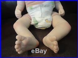 Reborn Tabatha Sculpt by Pat Moulton, closed eyes Soft Vinyl MINT baby girl doll