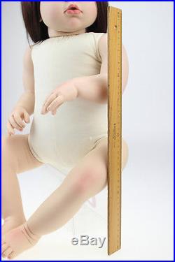 Reborn Toddler Dolls 28'' Handmade Lifelike Baby Silicone Vinyl Naked Girl Doll