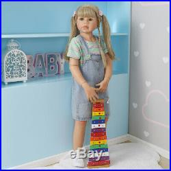 Reborn Toddler Girl 98CM Child Model Baby 39 Large Reborn Baby Dolls Full Vinyl
