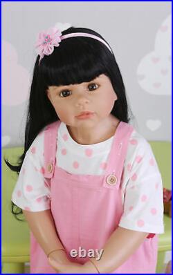 Reborn Toddler Girl Dolls 39 Full Vinyl Body Large Reborn Baby Masterpiece Doll