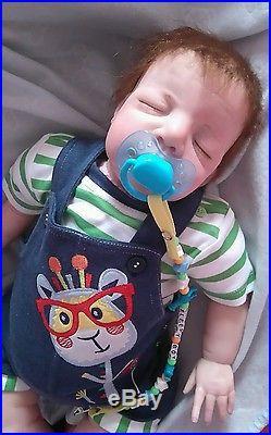 Reborn asleep baby boy doll 22 inches