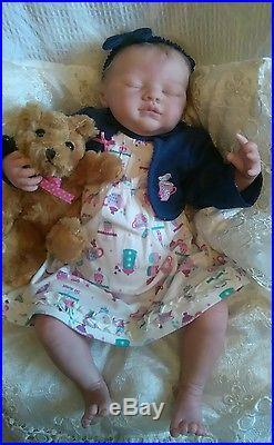 Reborn asleep baby girl doll 20 inches