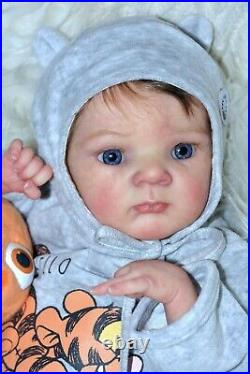 Reborn baby doll Alex is created from the Limited set of Zaza from Adrie Stoete