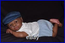 Reborn baby doll Realistic lifelike ethnic African American Dominic Lowest Price