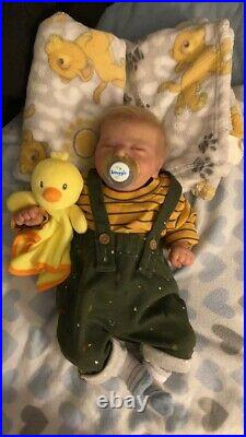 Reborn baby doll boy Baby Braylin, Pre-Owned very well taken care of, Chase mold