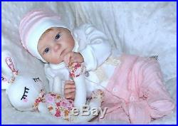 Reborn baby dolls Mary made from Limited out kit Tink by sculptor Bonnie Brown