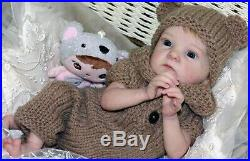 Reborn baby dolls Tink made from Limited out kit Tink by sculptor Bonnie Brown