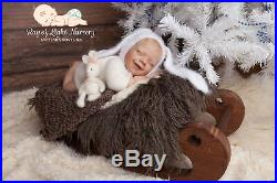 Reborn baby girl by doll kit April by Joanna Kazmierczak, Svetlana Kovylina